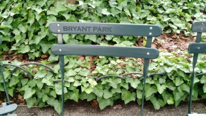 Chairs at Bryant Park